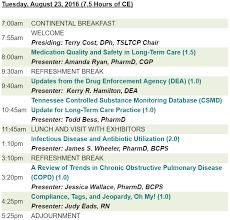 Conference Agenda Impressive Tennessee Pharmacists Association Hotel Deadline Agenda Now