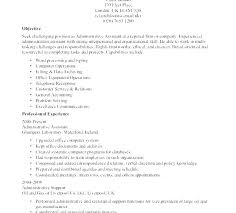 Inroads Resume Template Best of Administrative Resume Templates Clerical Resume Template Inroads