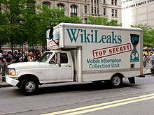 wikileaks office. a truck bearing slogan and wikileaks logo as prop at the occupy wall street protest in new york on 25 september 2011 wikileaks office 0