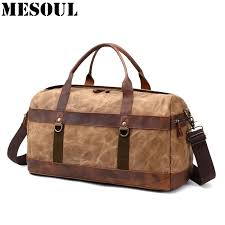 canvas leather duffle bags bag overnight for men weekend travel weekender women personalized