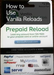 vanilla reloads prepaid cards