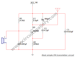 most simple fm transmitter circuit diagram circuits gallery Simple Circuit Diagram fm transmitter circuit diagram simple circuit diagrams worksheet