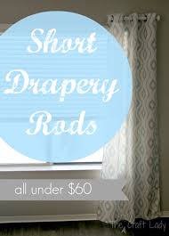 Curtain rods for small windows Corner Short Drapery Rods Short Drapery Rods The Crazy Craft Lady