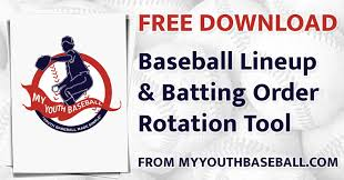 baseball lineup creator baseball lineup rotation generator my youth baseball