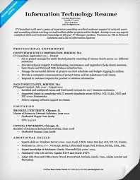 Gallery Of Resume Examples Information Technology Manager