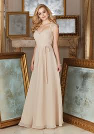 Beaded Lace And Chiffon Material Bridesmaid Dress Style 145