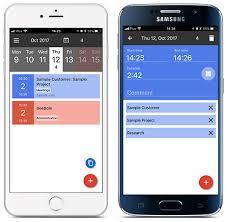 Mobile Time Tracking Beebole Timesheet App