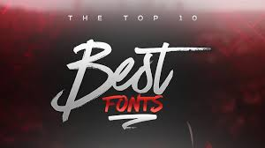 Best Free Fonts To Use For Youtube 2017 For Banners Headers Logos