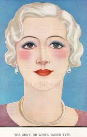 1930s makeup guide white haired type