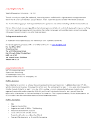 Awesome Collection Of Accounting Cover Letter Internship No