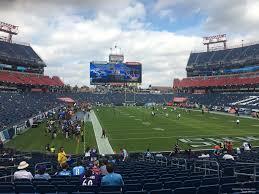 Nissan Stadium Section 126 Tennessee Titans