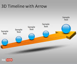 Timeline Slides In Powerpoint Free 3d Timeline Template For Powerpoint With Arrow Free