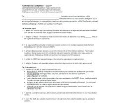 Example Of Food Service Contract Form Manufacturing Agreement ...