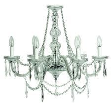 eva 6 arm chandelier
