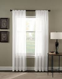 white sheer panels. Unique Panels Amazoncom 1 Piece Solid White Sheer Curtains Fully Stitched Panels Window  Drape 54 And O