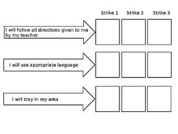 3 Strikes You Re Out Behavior Chart 3 Strikes Behavior Worksheets Teaching Resources Tpt