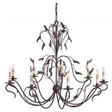 currey and company 9370 arcadia chandelier 9 light hand rubbed bronze