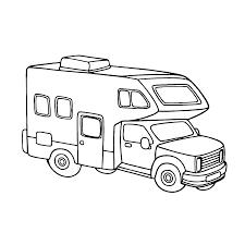 Charmante Kleurplaat Caravan Met Auto Krijg Duizenden