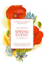 Spring Event Flyer Spring Event Advertisement Flyer Poster Social Media Graphic Design
