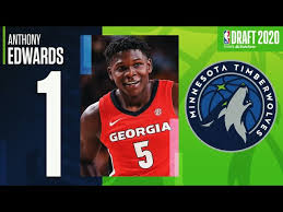 The longest draft buildup ever is about to come to an end, and there are still more questions than my final prediction is that the wolves keep the pick and take anthony edwards, with ball dropping out of. Anthony Edwards Selected 1 Overall In The 2020 Nbadraft Youtube