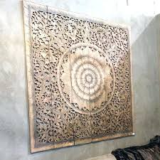 carved wood wall decor ing round large decorative wooden panel target