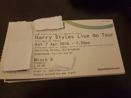 2 face value seated tickets for harry styles at genting arena birmingham saay 7th 7 april