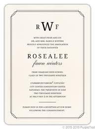 commencement invitations formal double frame graduation invitation