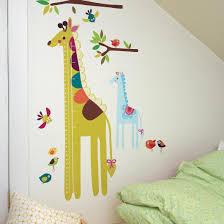Giraffe Growth Chart Vinyl Mural