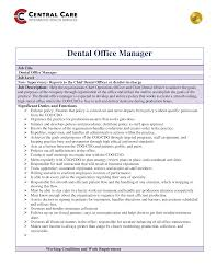 job description for a dentist free dentist office manager job description templates at