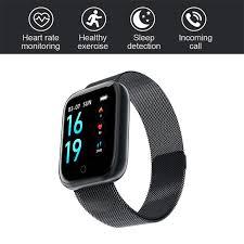 Steel <b>Smart Watch</b> T80 Heart Rate Blood Pressure Health ...