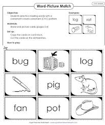 Cvc words worksheets and online exercises language: Phonics Worksheets Cvc Words