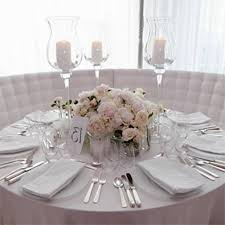ideas round tables wedding centerpiece