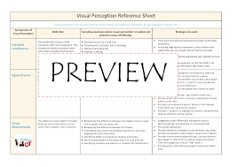 Refference Sheet Visual Perception Reference Sheet