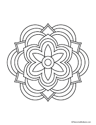 easy mandala coloring pages easy mandala coloring pages