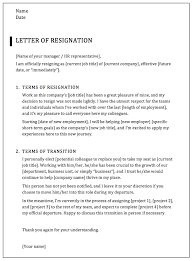How To Write A Resigning Letter How To Write A Professional Resignation Letter Samples Templates