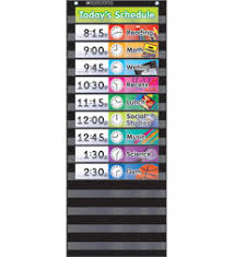 Black Classroom Calendar Pocket Chart Pocket Chart Monthly Calendar Black By