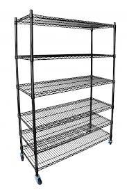 beautiful chrome steel shelving blackchrome commercial 6 tier shelf adjule steel wire metal