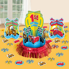 Cars Table Decorations St Birthday Table Decorations First Birthday Party Table