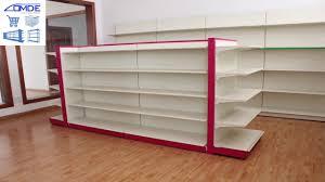 Shelf Designs For Shops Retail Store Fixtures Metal Shop Display Shelves Gondola