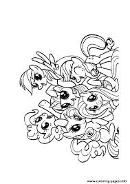 A Friendship Is Magic My Little Pony Coloring Pages Printable
