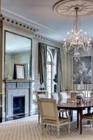 beautiful dining room nice crown moldings and fireplace elegant and soothing