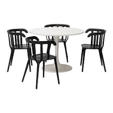 black furniture ikea. docksta ikea ps 2012 table and 4 chairs white black height 29 furniture ikea