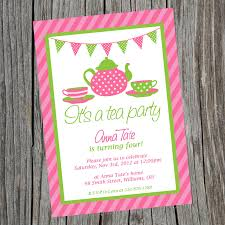 Kitchen Tea Invites Tea Party Invitation Letter Invitations Ideas