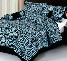 blue zebra print comforter set beautiful twin size animal bedding on vintage duvet covers with and