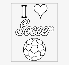 Soccer Coloring Pages Love Soccer Coloring Pages Png Image