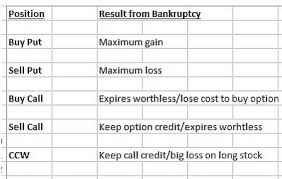 Call Put Option Charts How Bankruptcy Impacts Call And Put Options The Blue