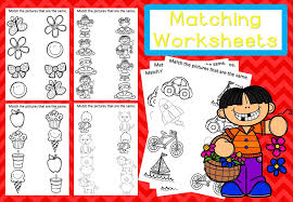FREE! Matching Worksheets – Mash.ie