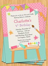 printable invitations for kids invitation kids art painting birthday party invitation for kids