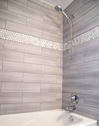 light grey subway shower tile ideas with mounted chrome faucet and stylish white built in tub light grey shower tile w23 tile