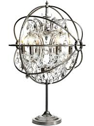 chandelier crystals prism vintage table lamps utoroa string ball globe lighting baby features lamp for engaging crystal standing and acrylic parts blue